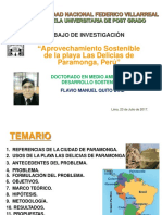 Aprovechamiento Sostenible de La Playa Las Delicias de Paramonga -Peru