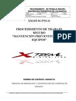 XM DT 01 PTS 11 Mantencion Preventiva