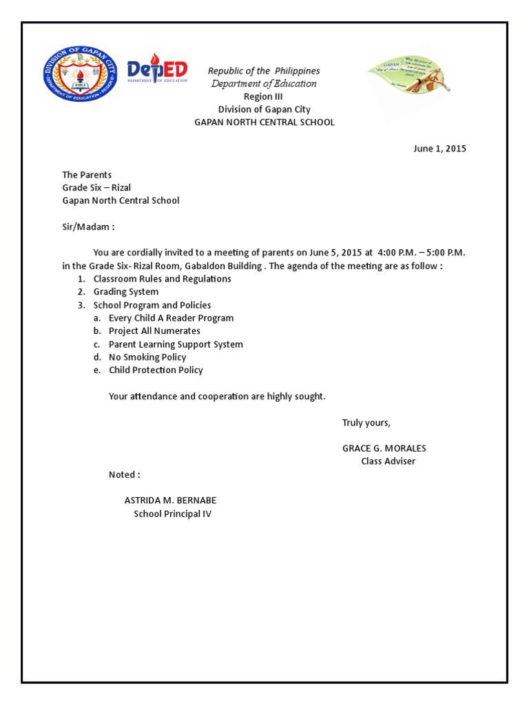 Homeroom Narrative Report PTA Meetings   Social Institutions