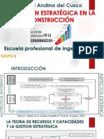 Diapositivas de La Gestión Estratégica en El Sector Construcción