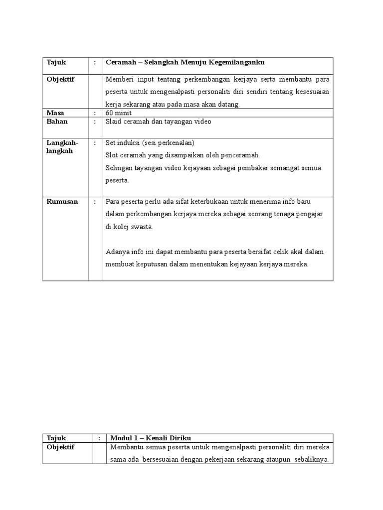 Modul Kerjaya Asia Metropolitan
