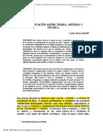 Mallorquin - Diferenciacion Teoria, Metodo y Tecnica