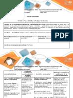 Guia de Actividades y Rubrica de Evaluación- Tarea 3- Unidad 2 Trabajo Colaborativo