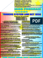Pagbabago Program Under Torrens System Law Act 1858