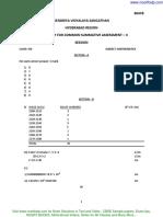 Answer Key Cbse Sample Paper Class 8 Mathematics