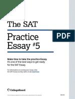 Sat Practice Test 5 Essay
