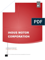 internship report in indus motor