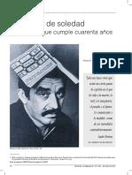 Cien Años de Soledad Una Ficci'on 40 Años