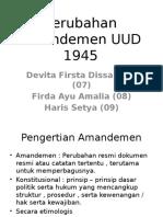 Perubahan Amandemen UUD 1945