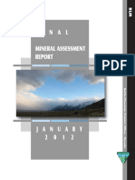 Mineral Assessment Report January 2012 - Final