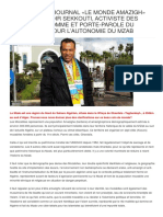 INTERVIEW DU JOURNAL «LE MONDE AMAZIGH» AVEC MR. KHODIR SEKKOUTI
