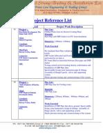 TSTI Project Reference List.