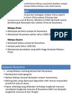 Hipotesis berkaitan salasilah Bahasa Melayu