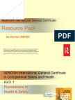 Sample International General Certificate ICG1 1 Foundations