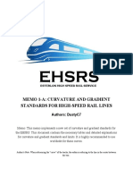 Curve and Gradient Standards (EHSRS)