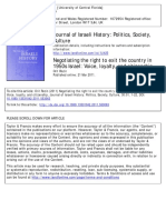 Rozin - Negotiating the Right to Exit the Country in 1950s Israel