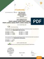 Ups Njoy Horus 800-Li080h1-Az01b Certificates Njoy Ups Certificates Horus Plus 600&800&1000&1500&2000