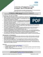 Fondaparinux for Acs 012011