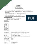 Fresher Client Server Dev Resume Model 110