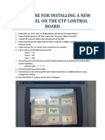 Procedure for Installing a New Hmi Panel on the Etp Control Board