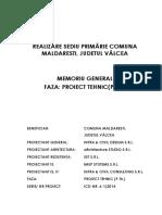 Doc Proiectare-memorii Tehnice-00 MEM.gen.PTh - Realizare Sediu Primarie, MALDARESTI, VL