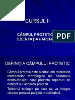 Cursul 2 Campul Protetic in Edentatia Partiala