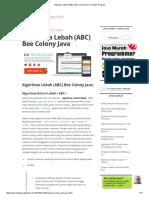 Algoritma Lebah (ABC) Bee Colony Java _ Contoh Program