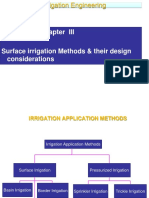 Chapter 3 1 1 Surface Irrigation Student AAU 2014