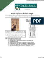 Statistics 2 - Power Regression Model Example