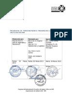 EQ 2.1 Programa de Mantenimiento Preventivo Equipos Criticos HRR V3 2015
