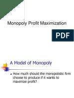 Profit Maximizing Monopoly