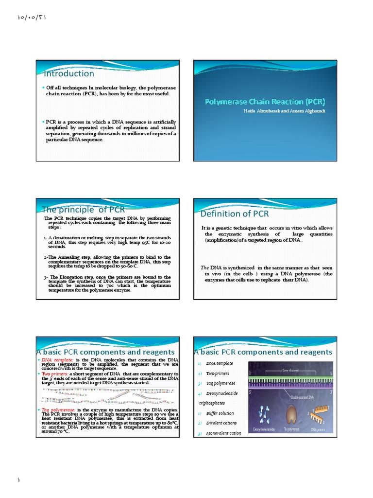 Microsoft PowerPoint - Polymerase Chain Reaction (PCR) pdf