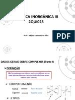 Parte I (1)compostos de coordenação
