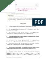 Proporcionalidad- Magnitudes Directamente Proporcionales.