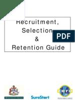 Recruitment Selection Guidance