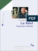 Traité de l'Idiotie - Clément Rosset