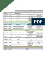 Program Calendar 2017 S2