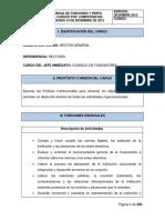 Manual de Funciones y Perfil de Cargo Por Competencias CUL