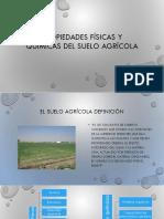 Propiedades Fisicas y Quimicas Suelo Agricola