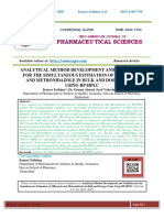 ANALYTICAL METHOD DEVELOPMENT AND VALIDATION FOR THE SIMULTANEOUS ESTIMATION OF OFLOXACIN AND METRONIDAZOLE IN BULK AND DOSAGE FORM USING RP-HPLC