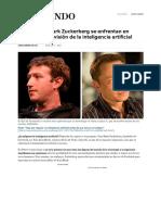 Elon Musk y Mark Zuckerberg Se Enfrentan en Público Por Su Visión de La Inteligencia Artificial