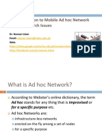 Ad Hoc Networks - Introduction
