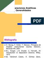 Tecnicas de Separaciones Analiticas Generalidades