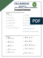 ecuaciones para 4°