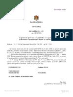 HG Cu Privire La Aprobarea Completărilor Ce Se Operează În Hotărîrea Guvernului Nr. 201 Din 11 Martie 2009