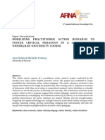 Mobilizing Practicioner Action Research to Foster Critical Pedagogy in a Large Online Undergraduate University Course