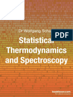 Statistical Thermodynamics and Spectroscopy