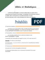 Probabilités Et Statistiques