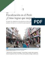 Fiscalización en El Perú