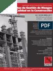 Flyer - Seminario Herramientas de Gesti+¦n de Riesgos de Calidad en la Construcci+¦n